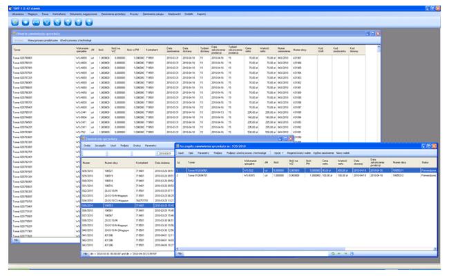 Zamówienia sprzedaży - System zarządzania produkcją